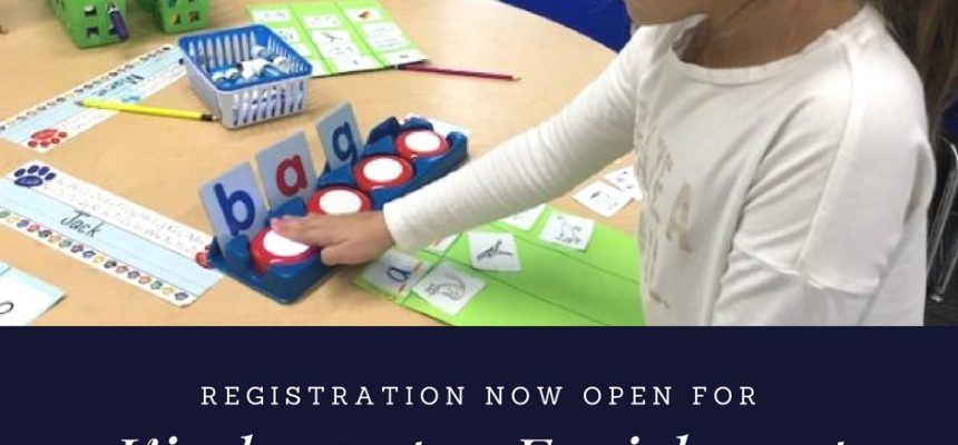 Kindergarten Enrichment Registration NOW OPEN!