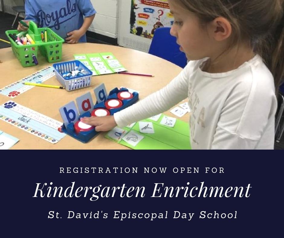 Kindergarten Enrichment Registration NOW OPEN!