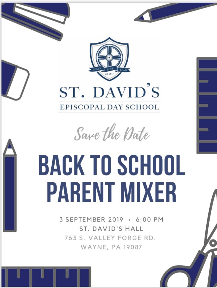 SDEDS Back-to-School Parent Mixer
